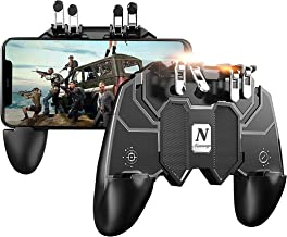 Newseego Mobile Game Controller, [Upgrade] Phone Controller Gamepad with L1R1 6 Fingers Trigger for Shooter Sensitive and Aim Trigger Controller for Android & iOS for Knives Out