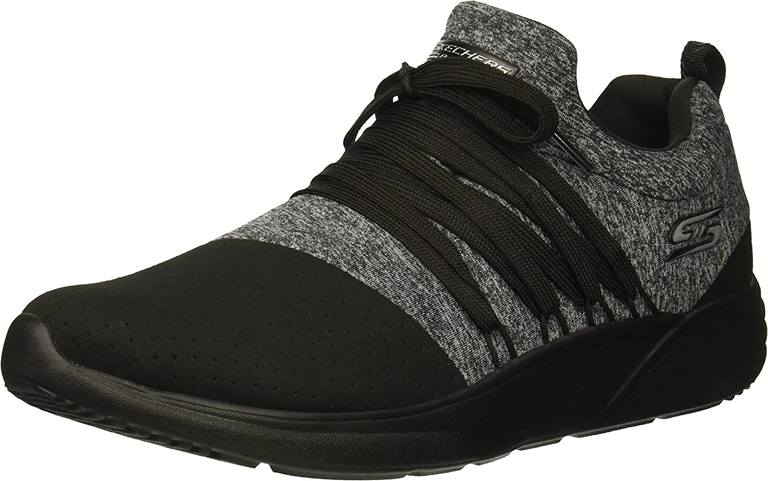 Skechers Womens Bobs Sparrow - Moon Jumper. Alternative Lace Microperf and Jersey Sneaker Sneaker