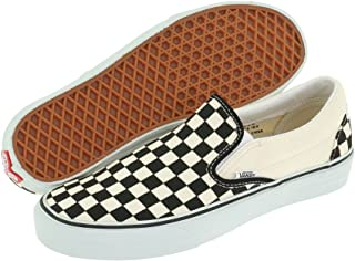 Vans Classic Slip On White Womens Trainers (9.5 B(M) US Women / 8 D(M) US Men, Black Off White Checkerboard)
