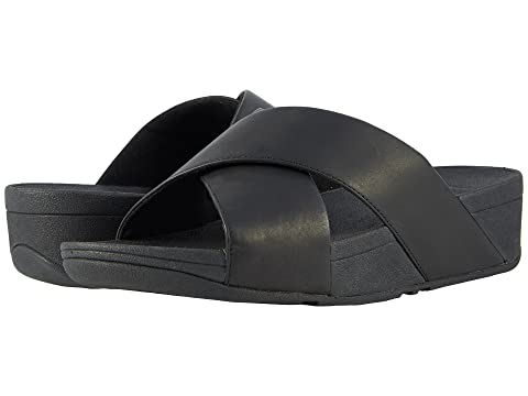 891c7bb952ef6 FitFlop Lulu Cross Slide Leather Sandal at Zappos.com