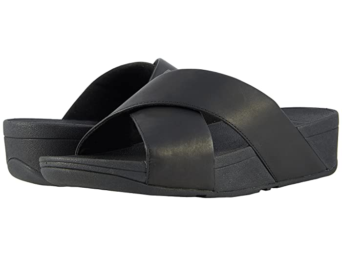 be5360a3427c FitFlop Lulu Cross Slide Leather Sandal at Zappos.com