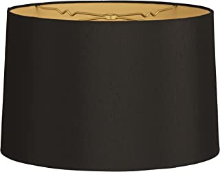 black silk drum lamp shade