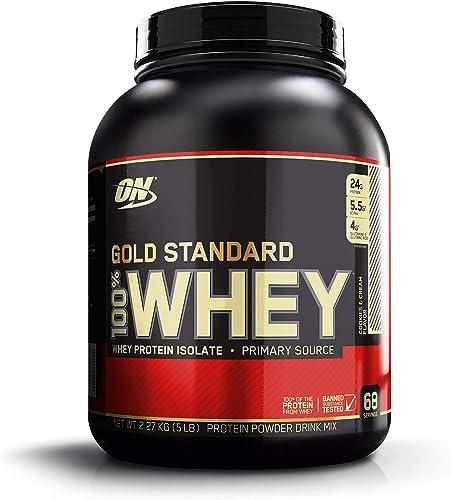 Optimum Nutrition Gold Standard 100% Whey Protein Powder, Cookies & Cream - 2.27 Kilograms