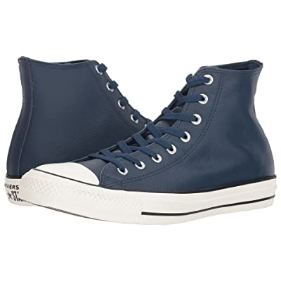 Converse Chuck Taylor All Star Leather Hi (Navy/Navy/Egret) Shoes