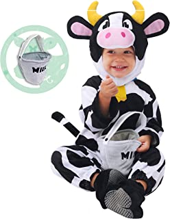 Baby Cow Costume Lovely Deluxe Set Kids Halloween Trick Treat Farm Party Dress Up
