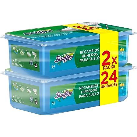 Swiffer Lot de 48 chiffons humides avec parfum frais de citron pour un nettoyage rapide et facile