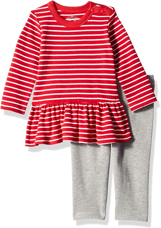 Moon and Back Baby Girls' Organic Dress and Legging Set