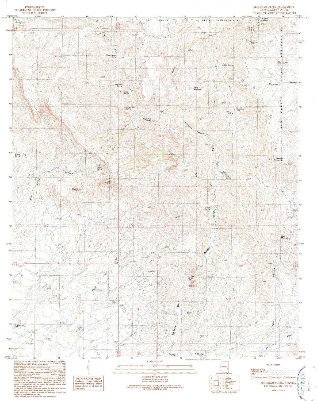 YellowMaps Markham Creek AZ Indianapolis Mall topo map Scale 7.5 M Ranking TOP5 1:24000 X