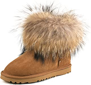 AUSLAND Women's Short Sheepskin Fur Snow Boot 98751