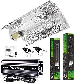 VIVOSUN Hydroponic 400 Watt HPS MH Grow Light Wing Reflector Kit - Easy to Set up, High Stability & Compatibility (Enhanced Version)