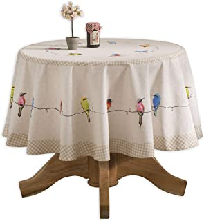 Maison d' Hermine Birdies On Wire 100% Cotton Tablecloth 63 Inch Round