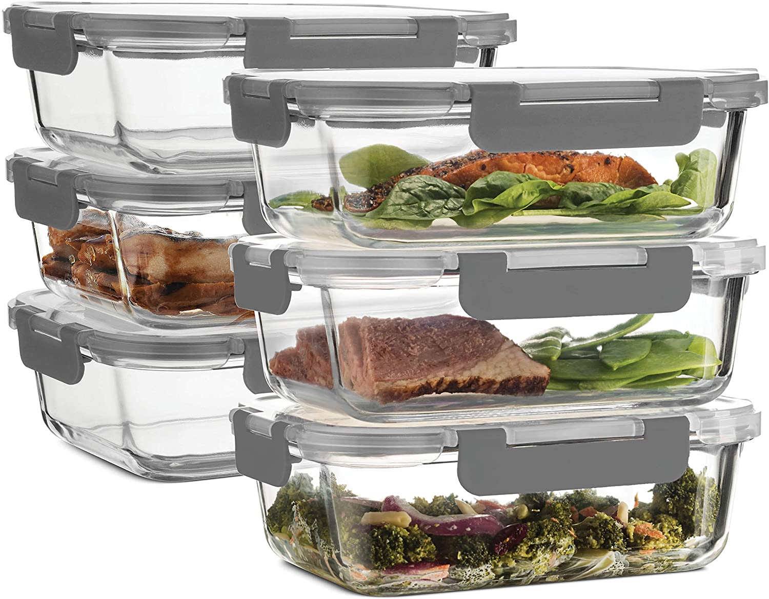 Superior Glass Meal-Prep Ranking Sales of SALE items from new works TOP18 Containers - Innova Newly 6-pack 35oz