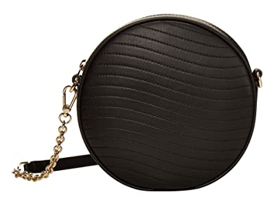 Furla Swing Mini Crossbody Round (Nero) Handbags