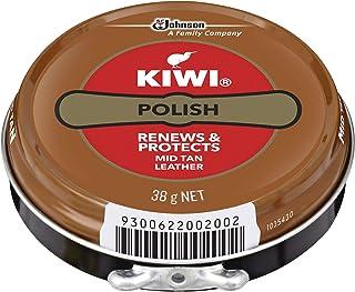 KIWI Polish, Renews & Protects Leather Shoes, Mid Tan, 38 g