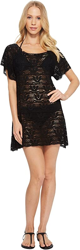 Nanette Lepore - Crochet Short Dress Cover-Up