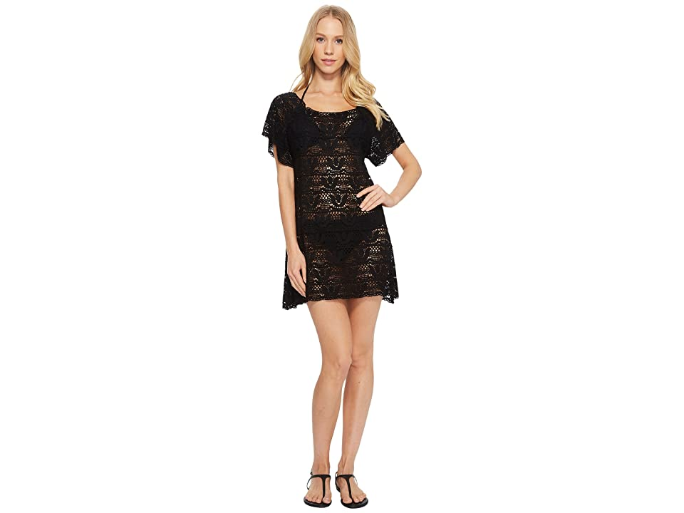 Nanette Lepore Crochet Short Dress Cover-Up (Black) Women