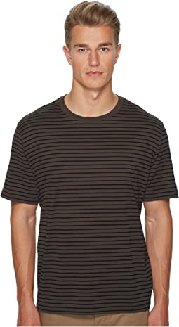 Vince - Narrow Stripe Short Sleeve Crew