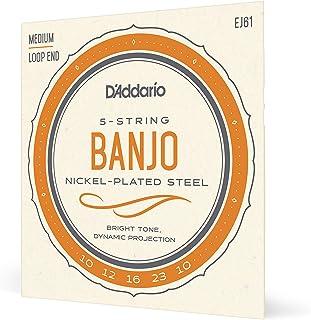 D'Addario EJ61 Medium 10-23 Nickel 5-String Banjo String