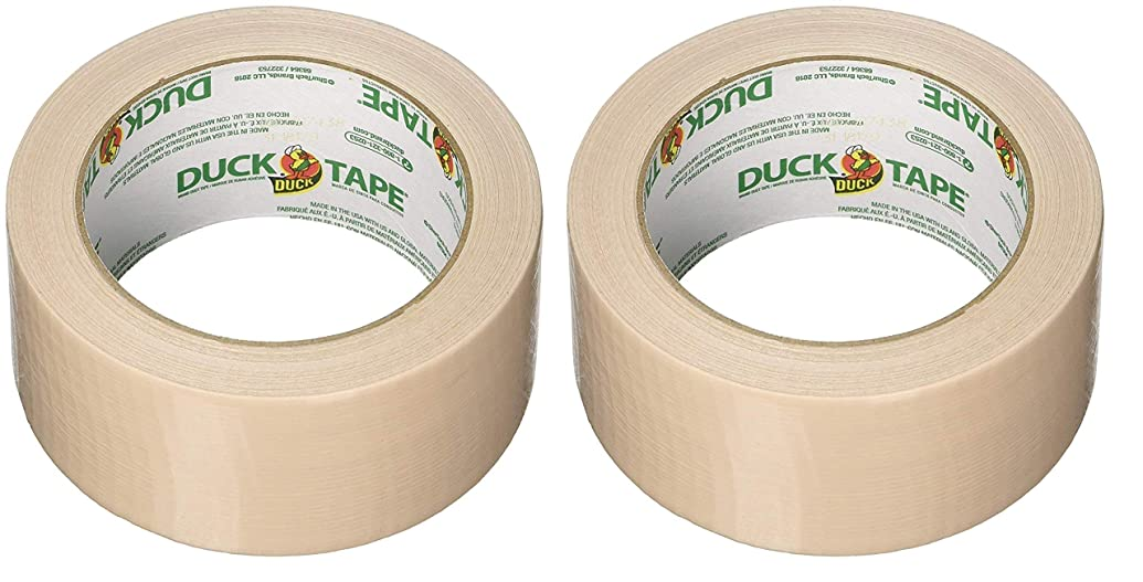 Duck 283264 1.88 X 20 Yards Beige Duct Tape (Two Pack, Cookie Dough)