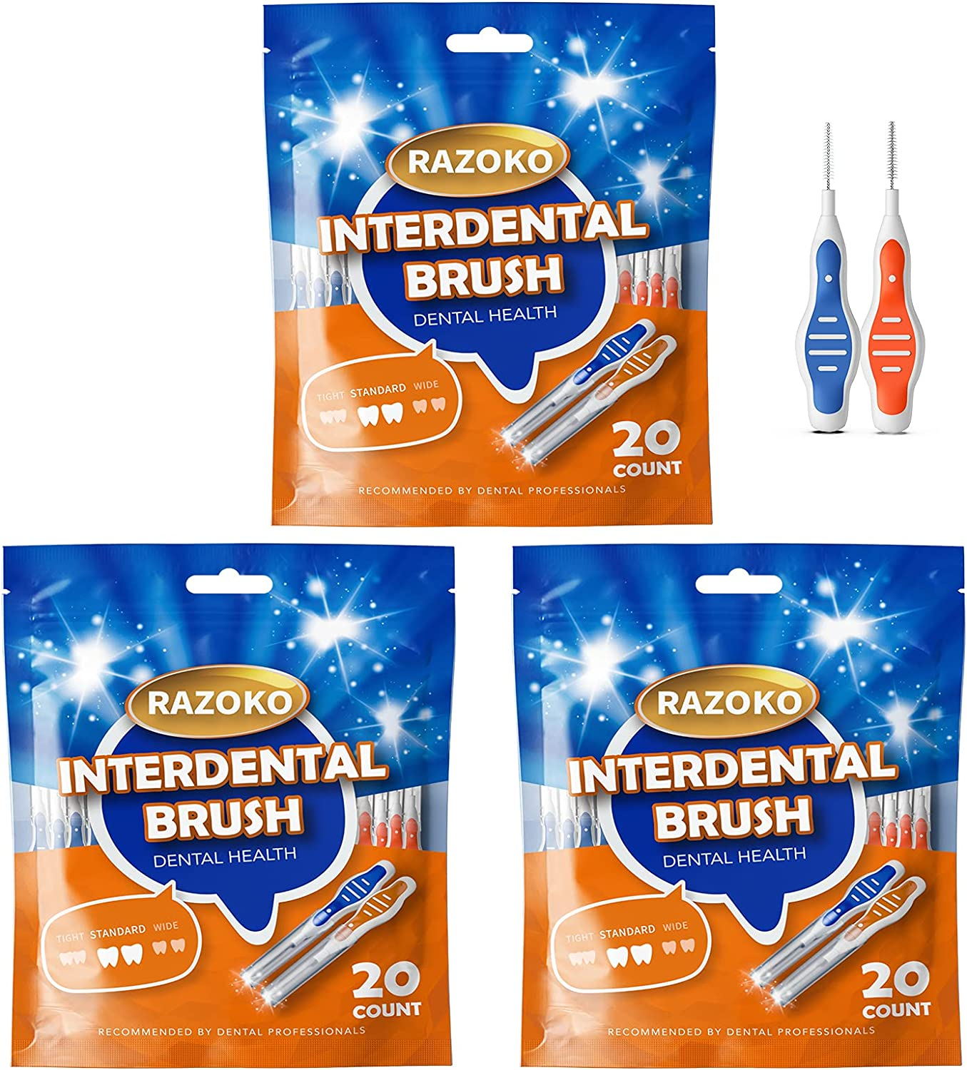 Interdental Brush Toothpick Year-end annual account Flossing Head Tooth Louisville-Jefferson County Mall Use Cleani Easy