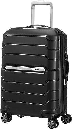 Samsonite Flux - Spinner S Expandable Bagage à Main Extensible, 55 cm, 44 L, Noir (Black)