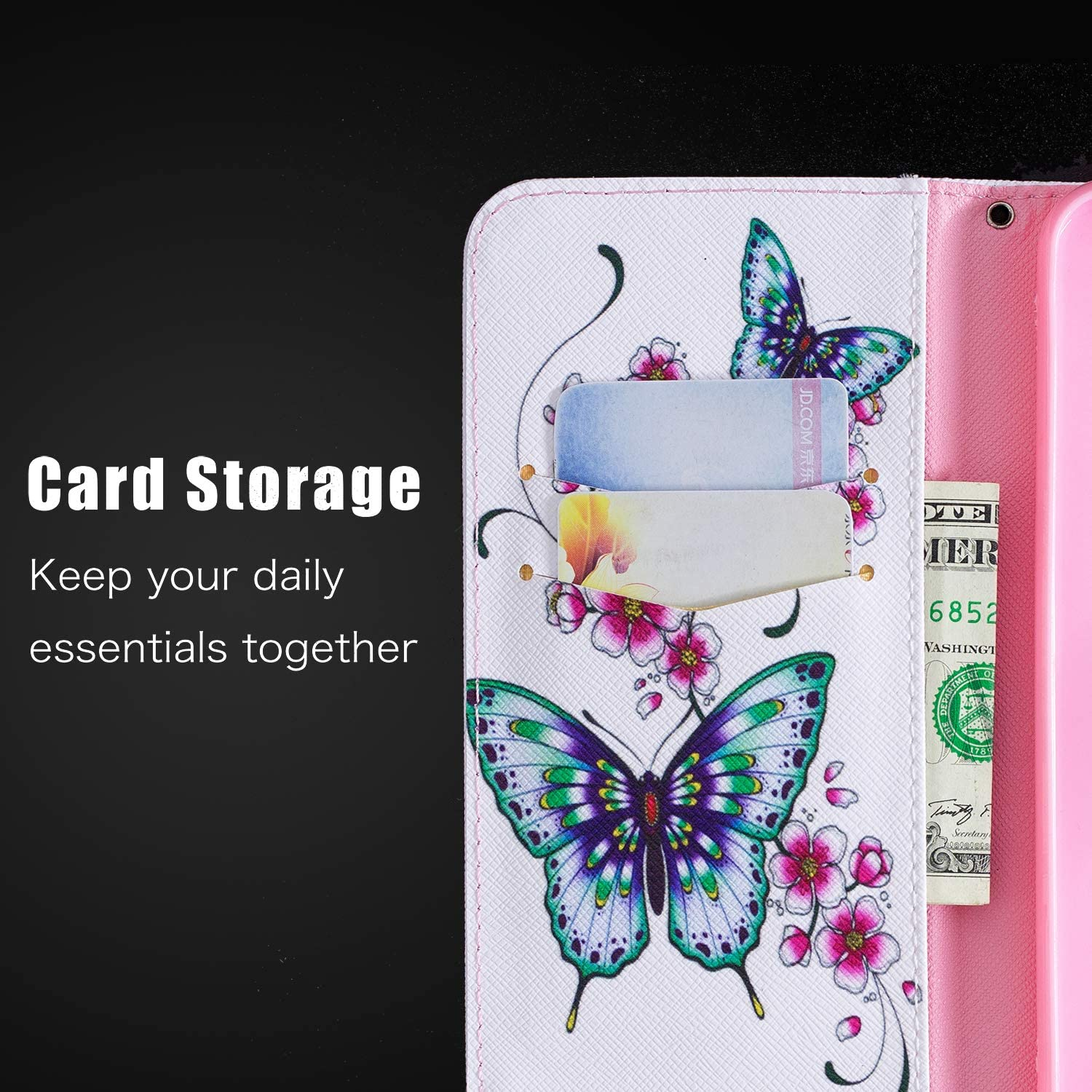 for iPhone 12 Case Umbrella Elephant Magnetic Closure PU Leather Flip Wallet Phone Cover Soft TPU Shockproof Bumper Folio Slim Fit Protective Case with Card Slots Kickstand iPhone 12 Pro Case