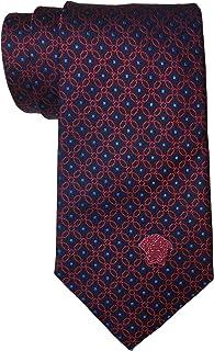 Versace Red Navy Geometric Tie