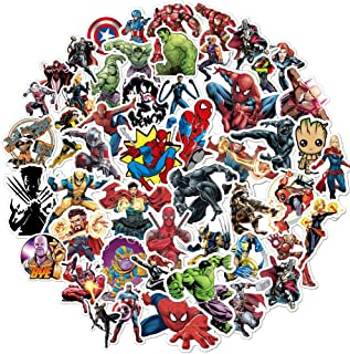 Superhero Avengers Stickers for Teens,Marvel Legends Stickers with Party Favors for Kids,Graffiti Waterproof Decals for Hydro flasks Water Bottles Bikes Luggage Skateboard Bumper(104pcs Random)HCNOCNB