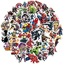 Superhero Avengers Stickers for Teens,Marvel Legends Stickers with Party Favors for Kids,Graffiti Waterproof Decals for Hydro flasks Water Bottles Bikes Luggage Skateboard Bumper(104pcs Random)