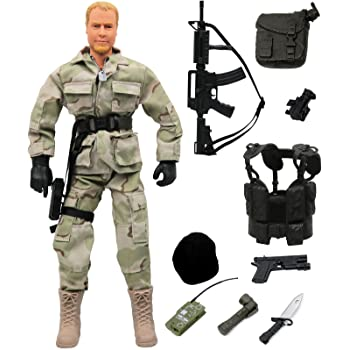 Click N Play Military Airborne Paratrooper 12 Inch Action Figure Play Set Accessories Click N/' Play B07FN447KL