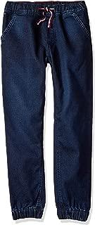 Boys' Big Adaptive Jogger Pants Slim Straight Fit with Elastic Waist