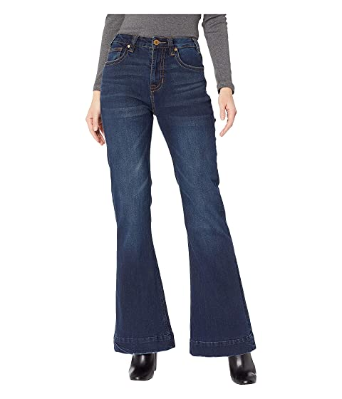 Vintage High Waisted Trousers, Sailor Pants, Jeans Rock and Roll Cowgirl Trousers Jeans in Dark Wash W8H8729 Dark Wash Womens Jeans $79.00 AT vintagedancer.com