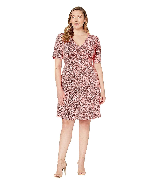 [マイケルコース] レディース ワンピース Plus Size Mosaic Texture V-Neck Dress [並行輸入品]