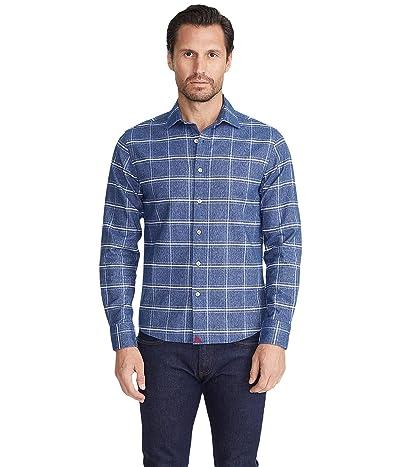 UNTUCKit Heavyweight Flannel Brignole Shirt (Blue/White) Men