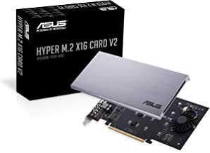 ASUS Hyper M.2 X16 PCIe 3.0 X4 Expansion Card V2 Supports 4 NVMe M.2 (2242/2260/2280/22110) Upto 128 Gbps for Intel VROC a...