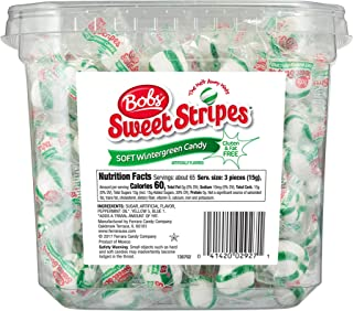 Bobs Bobs Sweet Stripes Wintergreen Mints, Wintergreen, 200 Count (Pack of 4)