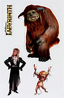 Toy Vault Labyrinth Magnet Set Featuring Ludo, Firey and David Bowie as Jareth The Goblin King, 4-Magnet Set from Jim Henson's Labyrinth Movie