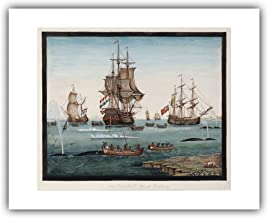 The Ibis Print Gallery - Sigismund Bacstrom : ''The Greenland Whale Fishery'' (c.1792-1800) - Giclee Fine Art Print