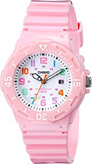 Casio Women's LRW-200H-4B2VCF Pink Stainless Steel Watch with Resin Band