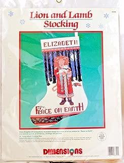 Mary Engelbreit Dimensions Lion & Lamb Cross Stitch Christmas Stocking Kit 8399
