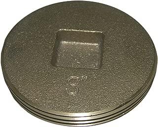 LASCO 33-3206 Countersunk Square Head Light Brass Cleanout Plug, 3-Inch