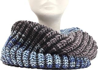CG - Talento Fiorentino, scaldacollo tubolare lavorato a maglia, invernale, sciarpa ad anello intrecciato, stampato col. J...