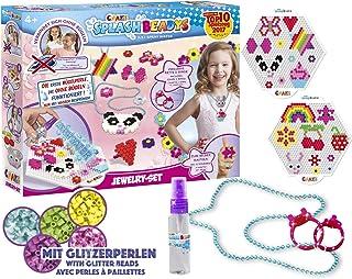 Craze Splash BEADYS Jewelry 15216 zestaw do majsterkowania dla dzieci, perły do prasowania, bez prasowania, perły wtykowe,...