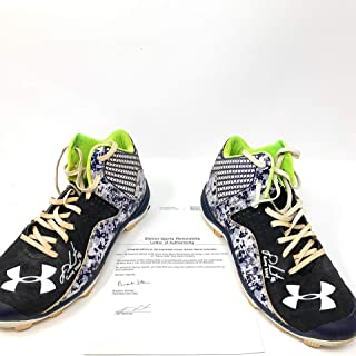 8739a2573ee132 JD Martinez Boston Red Sox Signed Autograph Game Used Under Armour Cleats  Inscribed Game Used