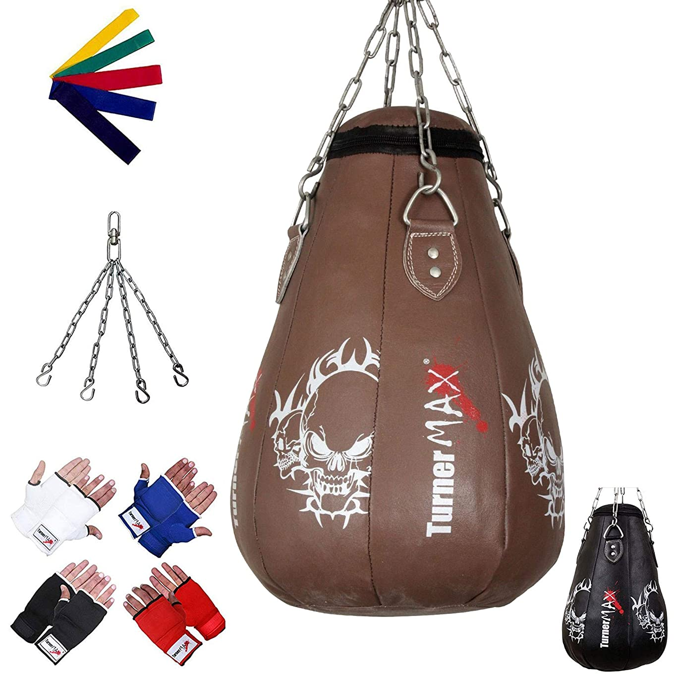 TurnerMAX Maize bag Leather Natural 2ft with Inner gloves and Stretch band