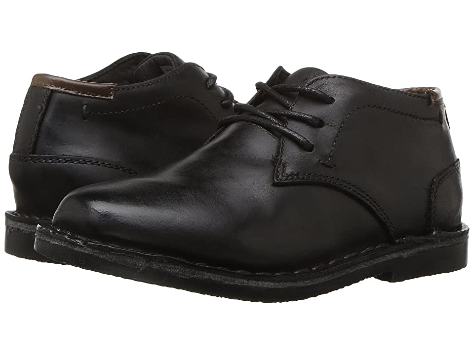 Kenneth Cole Reaction Kids Real Deal (Little Kid/Big Kid) (Black Leather) Boys Shoes