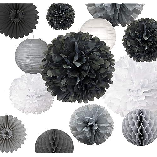 Black White Wedding Decorations Amazon