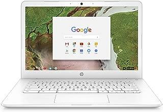 HP Chromebook 14-inch Laptop with 180-Degree Hinge, Intel Celeron N3350 Processor, 4 GB RAM, 16 GB eMMC Storage, Chrome OS (14-ca030nr, White)