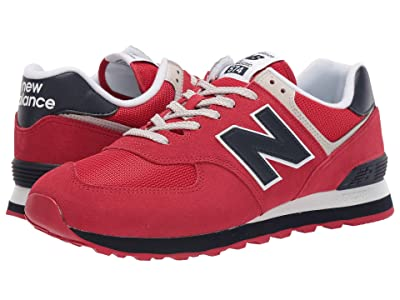 New Balance Classics ML574v2 (Rain Cloud/Team Red 2) Men