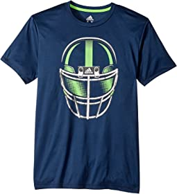 adidas Kids - Short Sleeve Helmet Tee (Big Kids)